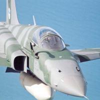 Caça F-5EM (modernizado) pela EMBRAER defesa e Segurança com aviônicos da AEL Sistemas                               Foto - EMBRAER