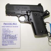 "Pistola IMBEL ""Xodó"" calibre 9x19 OTAN, agora Pistola 9 SC MD1 Foto - Alexandre Beraldi"