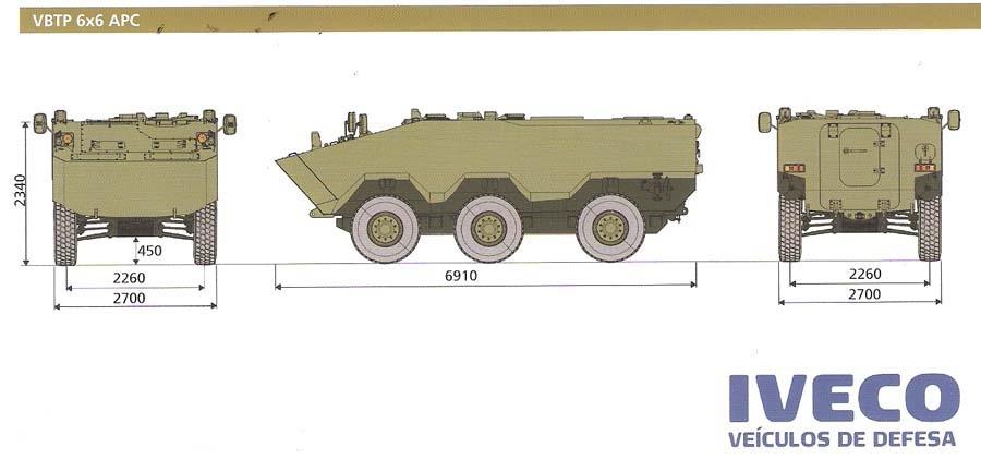 Brasil logra en Líbano el primer contrato de exportación del blindado Guaraní 736