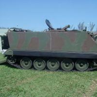 O M113 A2Mk1. Aparência externa não diferencia do M113B     Foto - Wayne dos Santos Lima