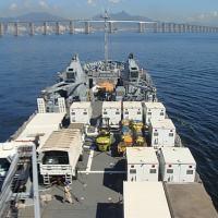 NDCC 'Almirante Saboia' transporta material para o contingente brasileiro da MINUSTAH