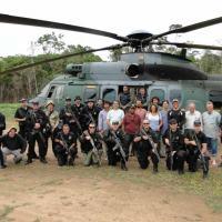 Helicóptero H-36 Caracal realiza primeira missão na FAB Foto - FAB
