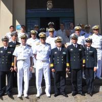 Comitiva do Instituto de Equipamento Naval da China, C Alte Garcez, Oficiais e Servidores Civis do AMRJ - Foto MB