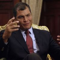Presidente do Equador, Rafael Correa. - Foto: AFP