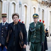 Visita da Presidente Dilma Rousseff ao Senado Francês com o Senador Senhor Jean-Pierre Bel, em 12 de Dezembro 2012. Foto - Planalto