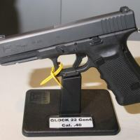Glock modelo 22 Geração 4, a arma de serviço policial vencedora do maior número de processos seletivos para arma curta de uso policial. Foto - Alexandre Beraldi