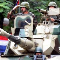 As Forças Armadas paraguaias capturaram 10 fugitivos da justiça brasileira em Amambay, no Paraguai, no dia 21 de maio. (Foto: AFP/Norberto Duarte)