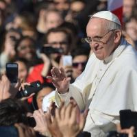 Papa Francisco na Praça São Pedro, Vaticano.