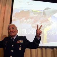 Fotos da coletiva para o anúncio do Gripen como vencedor do F-X2. Foto - Joel Rodrigues / exclusivo DefesaNet