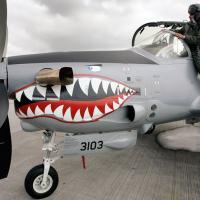 Um piloto colombiano embarca em um  Super Tucano. Recentemente, a Colombia incorporou smart bombs em muitos de seus Super Tucanos,os quais tem sido largamente empregados para o lançamento de bombas burras (dumb bombs) durante os ataques aéreos. Jose Miguel Gomez/Reuters