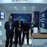 A  forte presença da Kryptus na FIDAE e o lançamento do Cripto-Processador Seguro. Foto - Kryptus