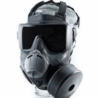 eira de segurança LAAD-2014, no Riocentro, mostra  a nova máscara contra gás já adquirida pela Secretaria  Extraordinária de Segurança Para Grande Eventos   Nacional, SESGE, polícias do Rio e de outros estados.