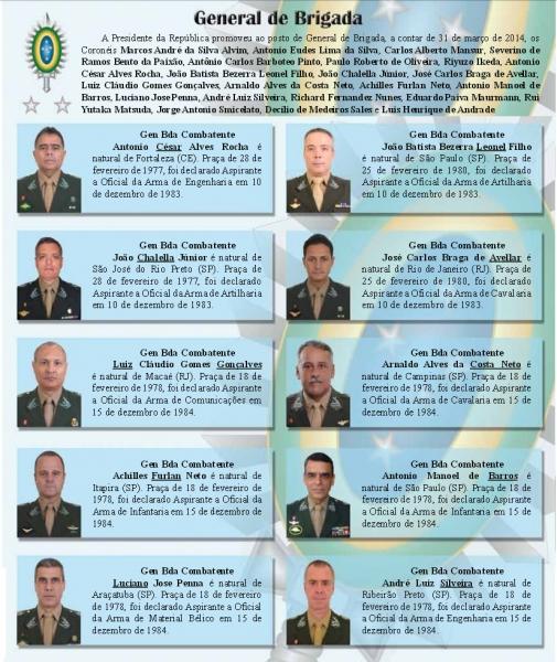 afd77554dea41 DefesaNet - Terrestre - EB - 23 novos oficiais-generais do Exército