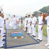 Cerimonial de recepção ao Chefe do Estado-Maior da Armada Argentina - foto MB