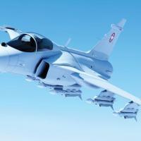 """Com 54,3% dos votos, os eleitores suíços disseram """"não"""" à compra dos caças Gripen, estimada em 3,5 bilhões de dólares, no referendo deste domingo. Arte SAAB"""