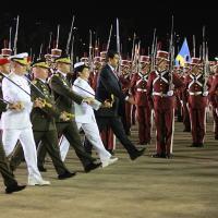Muduro e a elite militar alinhada no passo à esquerda na manutenção do sistema Chavista-Bolivariano. Foto Palácio Miraflores
