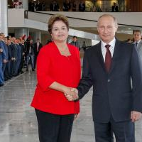 Presidente da República, Dilma Rousseff, e o presidente da Rússia, Vladimir Putin no Palácio do Planalto. Foto - Planalto