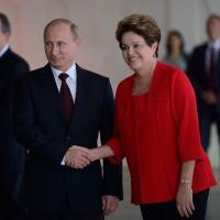 Presidente Dilma Rousseff e o Presidente da Federação da Rússia Vladimir Putin Foto - ABr