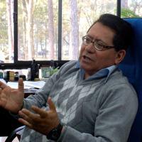 Walter Gonzalez, Um dos mais respeitados cientistas do mundo, é dos quadros do Inpe e foi um dos autores do estudo que mostra uma nova miniglaciação a partir de um período de hibernação solar.  Foto - Julio Ottoboni