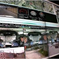 Informações em video transmitidas em tempo real para os Centros de Comando. Ver imagem do interior de uma viatura policial.  Foto - VEOTEX