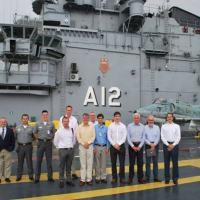 Na primeira ação conjunta da SAAB e EMBRAER Defesa & Segurança no Programa Gripen NG, realizam visita ao NAe A-12 São Paulo. Foto - DAerM