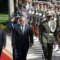 Presidente  Luis Inacio Lula da Silva, Presidente Iraniano Mahmoud Ahmadinejad, em Teerã, 16 Maio 2010.