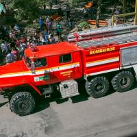 Firefighting vehicle assembled on an URAL truck delivered to Santa MAria city.  Photo kindly supplied by newspaper A RAZÃO /Photographer FABIANO DALLMEYER