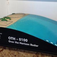 Maquete do sitio do Radar OTH como apresentado pela IACIT na III BID Brasil - Agosto 2014, Brasília. Foto DefesaNet