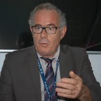 Vice-presidente da Thales Alenia Space para o Brasil , Joel Chenet anuncia a criação da Academi ado Espaço em São José dos Campos. Foto - Julio Ottoboni / DefesaNet