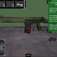 AMEq - O aplicativo demo da DEFII vem com o novo fuzil de assalto em uso pelo Exército Brasileiro o IMBEL 5.56 IA2.