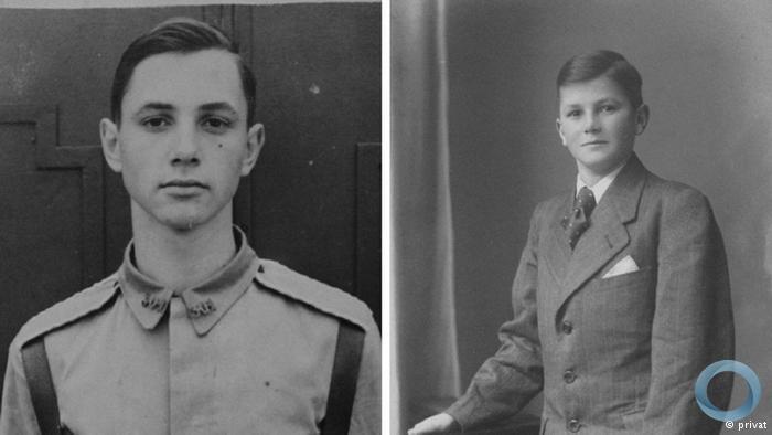 Gerd Emil Brunckhorst e Paul Heinrich na adolescência
