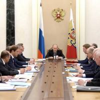 Russia Commission for Military Technology Cooperation with Foreign States. The meeting, on 25 May 2015, made a final review of the results for 2014 and discussed plans for the next three years. Photo - Kremlin