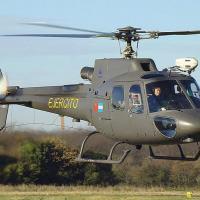 Apresentação do helcóptero chinês CZ-11 oficialmente montado na Argentina, em 2012. Observas as bandeiras argentina e chninesa na aeronave. Foto - MoD Argentina