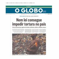 Matéria de capa de O Globo, edição dominical, de 12 JUL 15. Uma parte da tentativa de atingir militares e forças policiais resulta em  um texto confuso e com objetivos difamatórios escancarados.