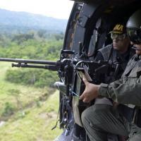 Patrulha do exército venezuelano junto à fronteira com a Colômbia FEDERICO PARRA/AFP