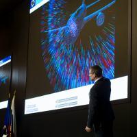 Análise computacional dos fragmentos gerados pela explosão do míssil atingindo o Boeing B-777-200ER da Malaysia Airlines Foto - Almaz Antey
