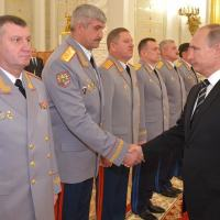 Vladimir Putin Meeting with officers appointed to senior command positions Photo - Kremlin Ru