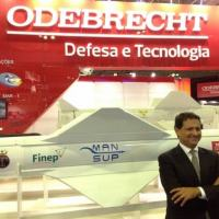 André Amaro, president of Odebrecht Defense & Technology during the LAAD 2015 expo. PHOTO: Julio Ottoboni