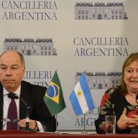Entrevista coletiva dos chanceleres Mauro Vieira, do Brasil, e Susana Malcorra, da Argentina, em Buenos Aires., 14 Janeiro 2016. Foto Casa Rosada