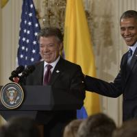 Colombian President Juan Manuel Santos and U.S. President Barack Obama highlighted the impact of Plan Colombia during its 15th anniversary on February 4th. [Photo: Cesar Carrión/SIG]