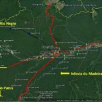Os 275 km de cabo serão lançados no trecho entre as cidades de Coari e Tefé, que fazem parte do Programa - Arte: CMA / EB