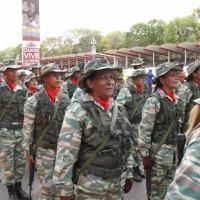 Milícia Bolivariana desfila em Caracas. Foto RunRun