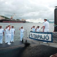"""Recepção do Comandante da Armada da República da Argentina no Submarino """"Tapajó"""". MN Douglas Souza"""