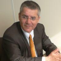 Sr. Patrick de la Revelière, VP da MBDA na FIDAE em entrevista com DefesaNet - Foto - DefesaNet