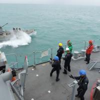 Exercícios a bordo - Foto: MB