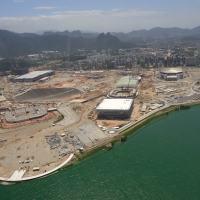 Parque Olímpico da Barra onde estão as principais atividades. Foto período de construção.