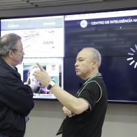 Trezza apresenta Painel Grandes Eventos ao ministro da Defesa    Foto: Felipe Barra / MD
