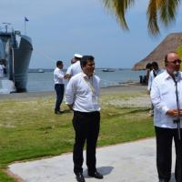 """The Colombian Minister of Defense, Luis Carlos Villegas, participated in the event """"Alliance for Productive Transformation,"""" held in Cartagena, Colombia, from August 24th-25th. (Photo: Javier Castella/Colombian Ministry of Defense)"""