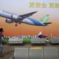 C919: a fabricante afirma que já possui compromissos de 21 clientes para a fabricação de 517 aviões (Nelson Ching/Bloomberg)