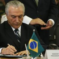 Presidente Michel Temer assina o Dec 8.903 - Programa  de  Proteção  Integrada de  Fronteiras - PPIF